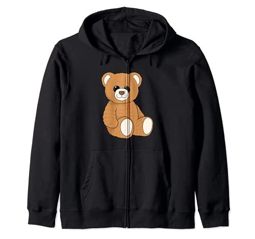 Süßer Teddybär I Kuscheltier I Plüschtier I Teddybär Kapuzenjacke