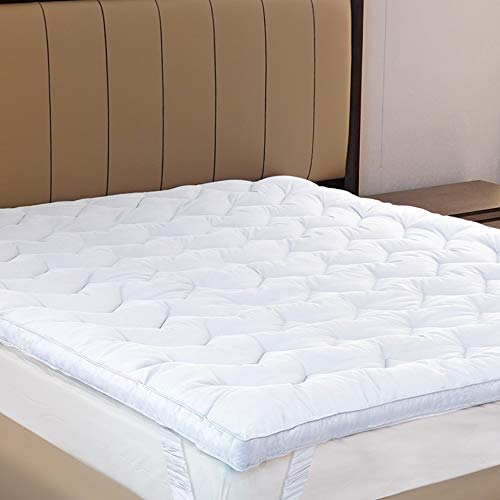 D & G THE DUCK AND GOOSE CO Mattress Topper, Mattress Topper Sale Full Bed Topper Plush Mattress Topper Queen Size, Bed Topper Thick Mattress Pad Cover with Down Alternative Fiber Filling