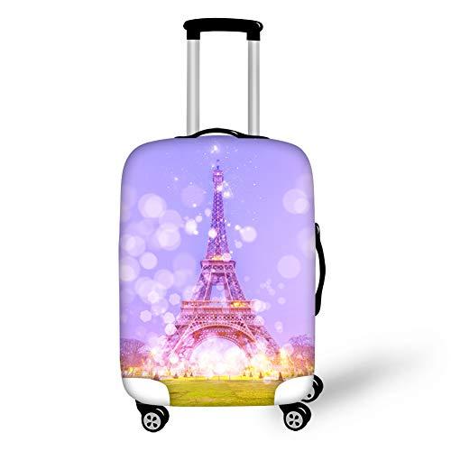 Gopumchy Pariser Torre 3D Estampado Cobertura para equipaje de viaje Cubierta protectora para equipaje de equipaje Cubierta protectora de equipaje Cubierta de equipaje Cubierta de viaje Funda de maleta