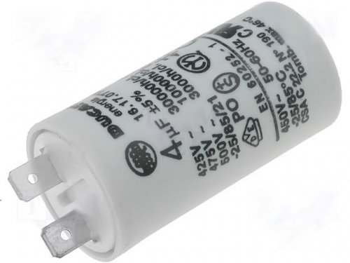 Motorkondensator Anlaufkondensator Betriebskondensator Kondensator 4,0uF 400V Ducati 4.16.17.07.TA