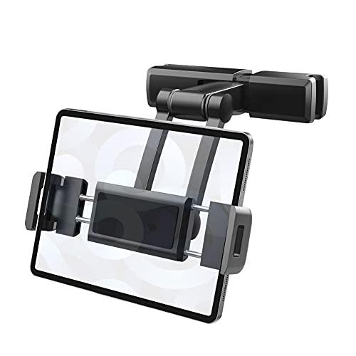 BHJ Supporto per poggiacapo Rotante Flessibile a 360 Gradi per iPad Car Pillow Mobile Phone Holder Tablet Stand Back Seat Headrest Mount Bracket 4.7-12 inch