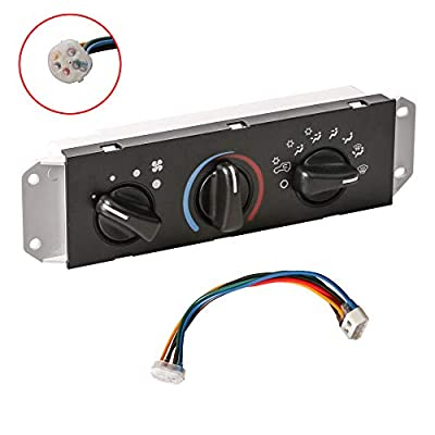 MOSTPLUS 55037473AB HVAC A/C Heater Control & Blower Motor Switch Compatible for Jeep Wrangler TJ 1999 2000 2001 2002 2003 2004
