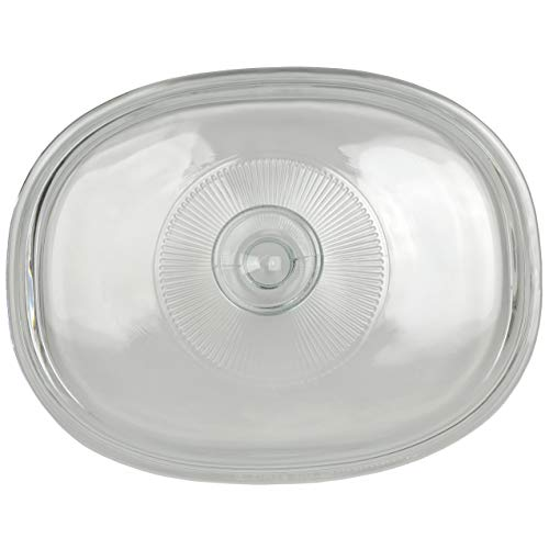 Corningware F-12C 1.5 Quart Oval Glass Lid for 1.5 Quart French White Oval Bakeware Dish Without Handles (Dish Sold Separately)