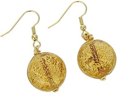glassofvenice cristal de Murano ca D 'oro–Pendientes oro amarillo