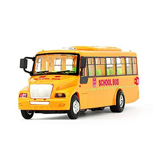DIHAO Amarillo Alloy Diecast School Bus vehículos Toy Car con Puertas y...