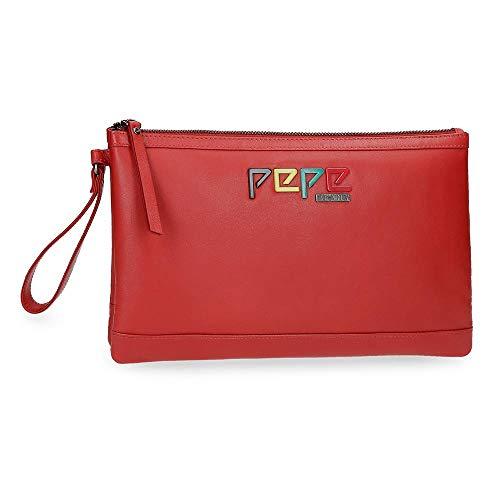 Pepe Jeans Mandala Bolso de Mano Rojo 22x17x2 cms Piel