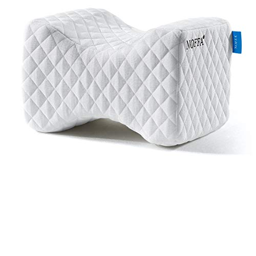 NOFFA Kniekissen Schlafen für Hüfte, Bein, Seitenschläfer, Memory-Schaum Beinkissen Mit Waschbarem Bezug