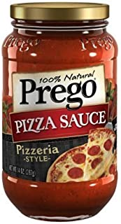 Prego Pizza Sauce, Pizzeria Style, 14-ounce Jars (Pack of 3) by Prego