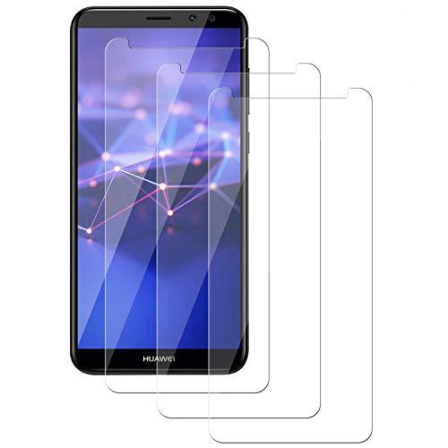 PUUDUU Cristal Templado para Huawei Mate 10 Lite, [3 Piezas] Película Protectora de Vidrio Templado de Cobertura Completa Curvada 9H, Resistente a Los Arañazos, Sin Burbujas, Huawei Mate 10 Lite