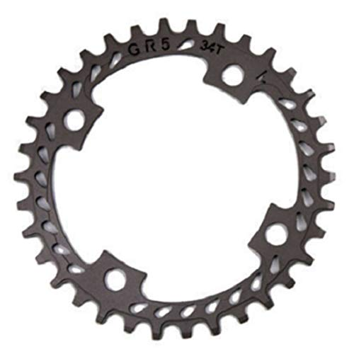 Andifany Mountain Bike Chainring Titanium Alloy Chainring Hollow Positive and Negative Chainring Bcd104 Mountain Gear Wheel 36T