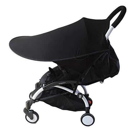Morningtime Zonwering voor kinderwagen, universeel, uv-bescherming, baby's, lycra, verstelbaar, opvouwbare markiezen, accessoires voor buggy sportwagen