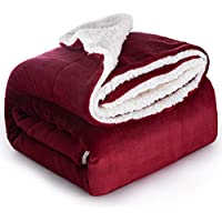 Bedsure Sherpa Fleece Queen Size Plush Blanket
