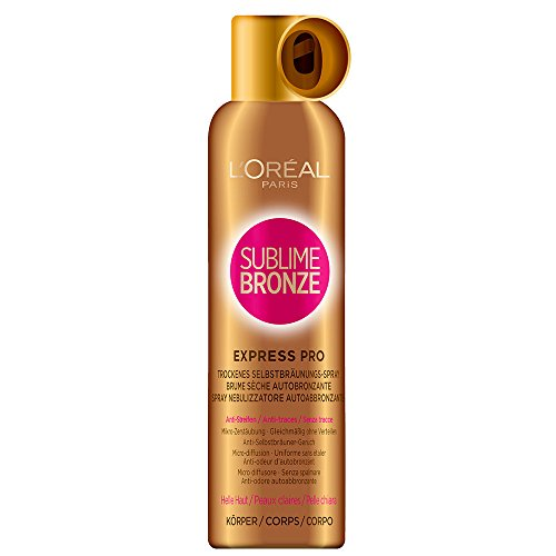 L'Oréal Sublime Bronze Express Pro - Spray bronceador de 150 ml para pieles claras