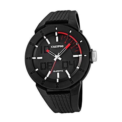 Calypso UK5629/2 - Reloj para Hombres, Correa de Goma Color Negro