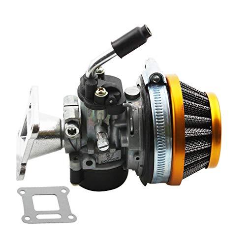 GOOFIT ATV 49cc Vergaser mit Luftfilter, für Mini/Pocketbike mit 2 Gängen und 47cm³ oder 49cm³