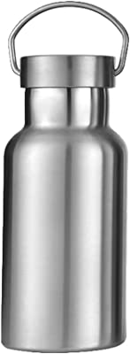 Gtell Stainless Steel Vacuum Insulated Water Bottle 34/25/20/17/12oz 18/8 for Hot and Cold Drinks, Double Walled, Leak Proof (Silver(12oz))