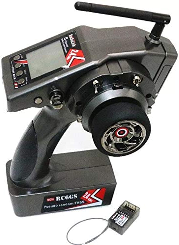 Faironly RC6GS 2.4G 6CH Auto Controller Transmitter + R6FG Gyro Innen Empfnger für RC Auto Stiefel