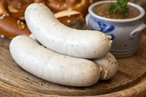 Food-United Weißwurst Münchner Art 300g aromaintensiv mit Schweinefleisch und Kräutern nach traditionellen Leitsätzen hergestellt mit Premium Qualität für echte Feinschmecker