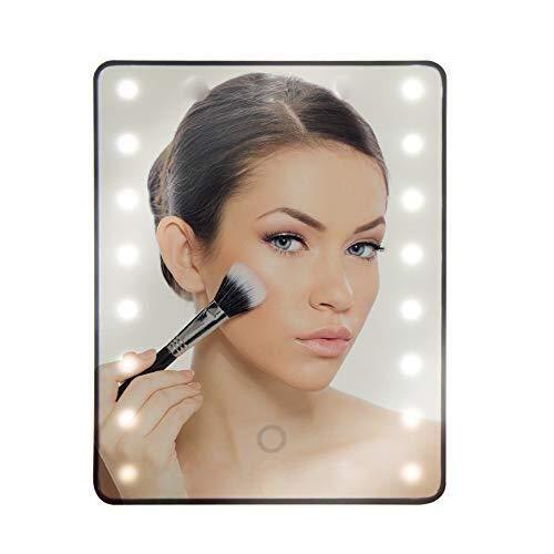 SONGDP Salle de Bains LED Miroirs de Light Up Illuminated Maquillage Miroir Miroirs de Rasage |22 LED Permanent à écran Tactile Miroir avec 1x Loupe Tache Miroir cosmétique Miroir de Maquillage