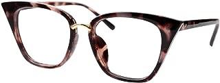 SOOLALA Womens Quality Readers Stylish Oversized Cat Eye Custom Reading Glasses