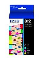 EPSON T812 DURABrite ウルトラインク 標準容量 ブラック&カラーカートリッジコンボパック (T812120-BCS) エプソン ワークフォース プロプリンター用