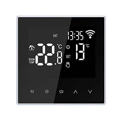 Thermostat WiFi Fußbodenheizung Smart Digitaler Programmierbare Raumthermostat 16A großem LCD-Touchscreen,APP-Steuerung Wöchentliche Zirkulation Programmierbare mit Internen Sensor und Bodensensor