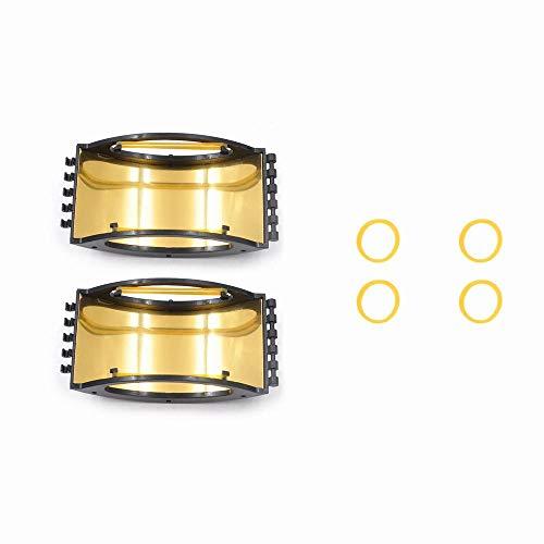 Leeofty 2 Piezas Amplificador de señal de Antena Universal Extensor de Rango de señal Compatible con 2 Air Spark Flysky Frsky WFLY Control Remoto