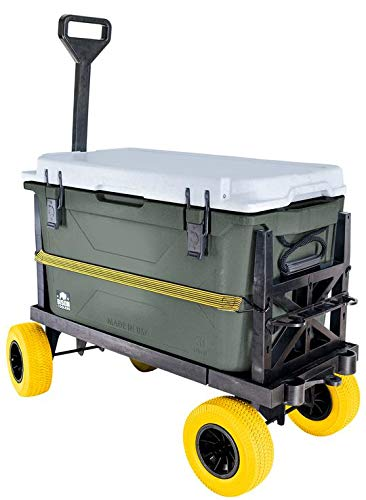 Mighty Max Cart Ice Chest Dolly Cooler Hauler - Flat...