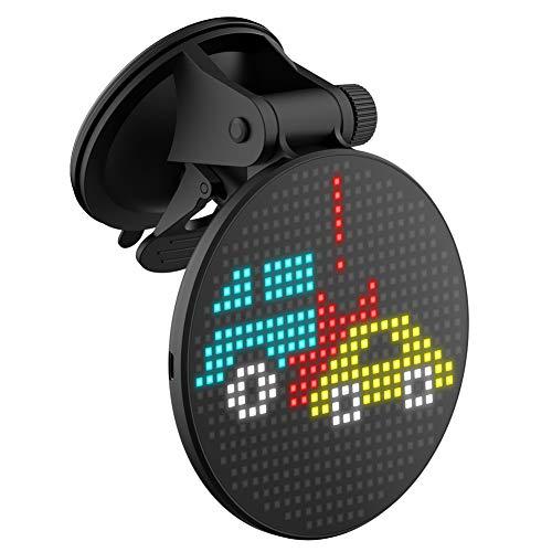 Ousyaah Auto Emoji LED Display Auto Heckscheibe DIY-Emoji-Gerät mit Farb-Scrolling-Meldung und Bluetooth-App-Steuerung für iOS Android