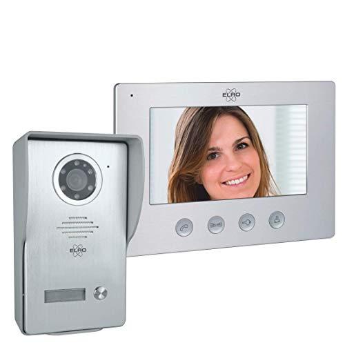 ELRO DV477W Interphone de Porte Vidéo avec écran 1 couleur - Caméra avec Vision Nocturne - Technique 4 Fils - 16 Sonneries