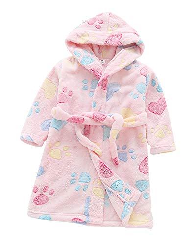 Toalla para Niños con Capucha Super Suave Cómoda Terry Albornoz Bata Pijama Ropa Housecoat
