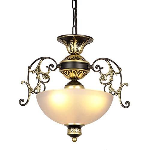 Lámpara colgante de la lámpara antigua de la lámpara de la vendimia Balcón del pasillo del pasillo del porche de la lámpara de la lámpara de la lámpara de la lámpara de la lámpara de vidrio E27 * 3
