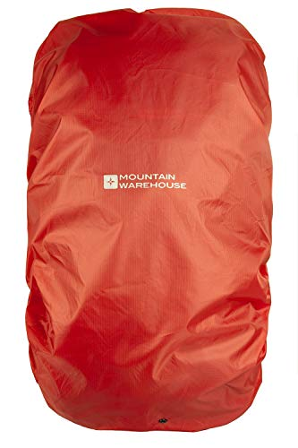 Mountain Warehouse Housse de Pluie pour Sac à Dos 20-35L - Couverture de Voyage résistant à la Pluie, emballée dans Un Sac, Tissu Anti-déchirure, Cordon de Serrage Orange Taille Unique