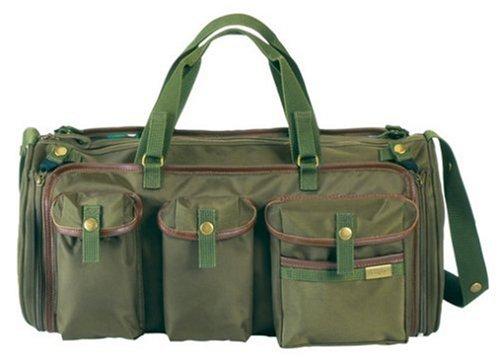 Little Company Exclusieve oprolbare reis-luiertas (olijf met bruin leer trim)