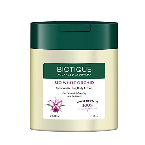 Biotique Bio White Orchid Skin Whitening Body Lotion, 75ml