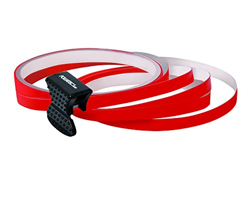 Foliatec PIN Striping Felgen Design Auto Zierstreifen, Selbstklebend, Waschstraßenfest, zum Verzieren von 4 Felgen, Rot