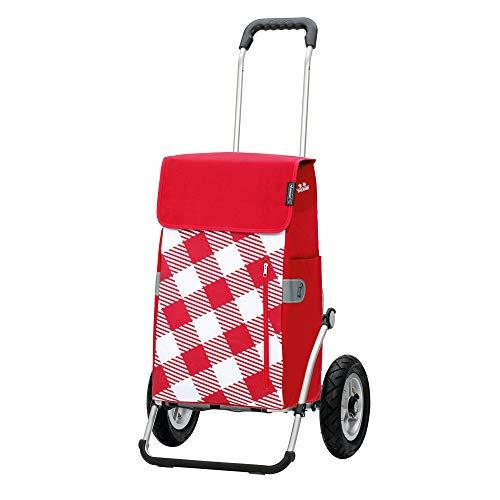 Andersen Shopper Royal mit Luftreifen Ø 25 cm und 43 Liter Tasche Glen mit Kühlfach rot