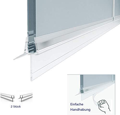 Duschkabinen, Duschdichtung wasserdichteAbdeckkapsel, Überlaufsicherung (60cm (2 Stück), für 6 mm Glasdicke)
