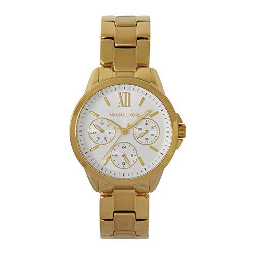Michael Kors Bradshaw - Reloj cronógrafo de Cuarzo con Correa de Acero Inoxidable en Tono Dorado para Mujer MK6882