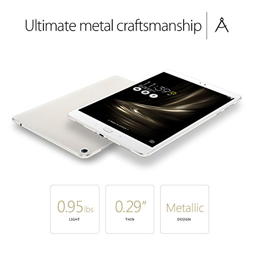 ASUS ZenPad 3S 10 9.7' (2048x1536), 4GB RAM, 64GB eMMC, 5MP Front / 8MP Rear Camera, Android 6.0, Tablet, Glacier Silver (Z500M-C1-SL)
