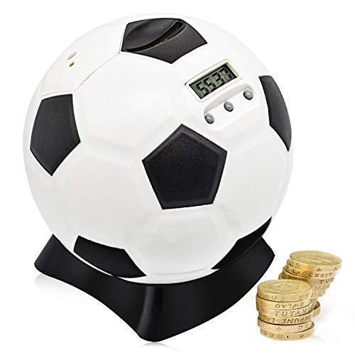 MOMMED Hucha, Contador Digital Hucha, Balón de Fútbol Hucha, HuchaCerdito para Niños, Hucha Electronica LCD, Niños
