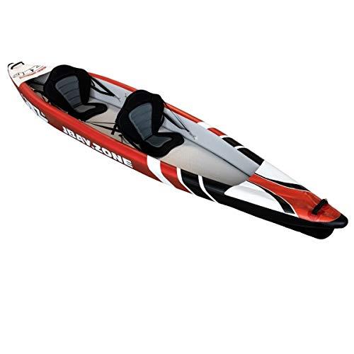 JBAY.ZONE Kayak 425 Canoa Hinchable 2 Plazas 425x78cm enteramente en Drop-Stitch de Alta presión