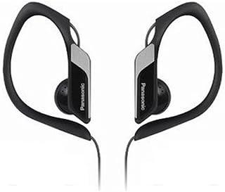 Panasonic Adjustable Ear Piece Water Resistant Sports Headphone in Ear, Earbud, Earphone, Black, (RP-HS34E-K)