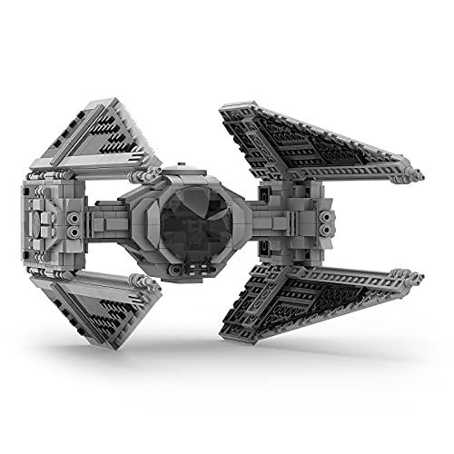 Millionspring Space War TIE Interceptor Jeu de Construction, Jouet de Construction à Collectionner pour Adultes et Enfants - 774Pcs