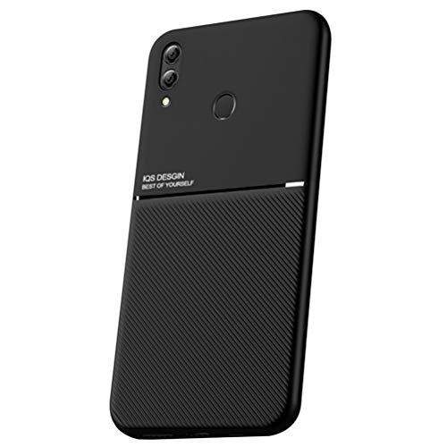 """UBERANT Capa Honor 8X Max, bumper macio de TPU com absorção de choque [imitação de metal] capa ultrafina antiimpressão digital para Huawei Honor 8X Max 7,2"""" - Preto"""