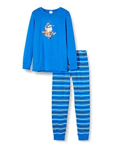 Schiesser Jungen Capt´N Sharky Kn Lang Zweiteiliger Schlafanzug, Blau (blau 800), (Herstellergröße:140)