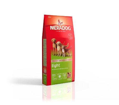 Meradog Care Light Hundefutter I Trockenfutter ohne Weizen für ausgewachsene Hunde I Zur Gewichtsreduktion oder Gewichtserhaltung | 12,5 Kg
