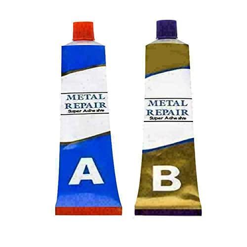 Metal Repair Gel, Plastic Cement Weld Glue, Industrial Heat Resistance Cold Weld Metal Repair Paste A&B Adhesive Gel (50g)