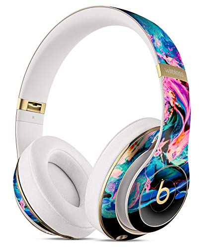 Liquid Abstract Paint V20 - Protective Skin Decal Kit Compatible with The Beats by Dre Studio 3 Wireless Headphones