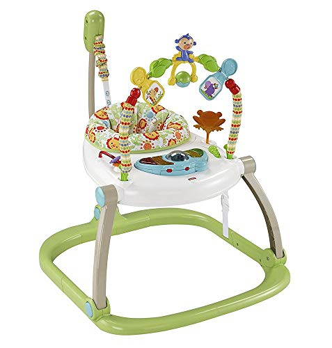 Mattel Fisher-Price CHN38 Rainforest Jumperoo kompakt, mehrfarbig